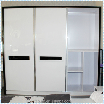 Ritz Black And White Clic Sliding Door Bedroom Wardrobe