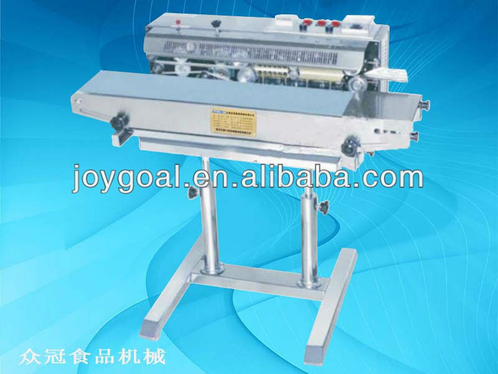 vertical continuous band sealer machine with code printer