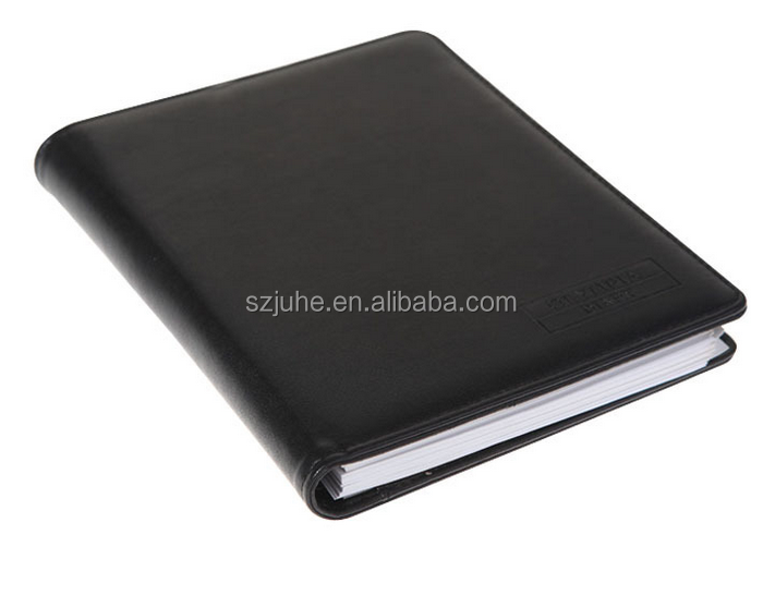 promotion high quality A4 executive diary leather cover notebook with pocket inside