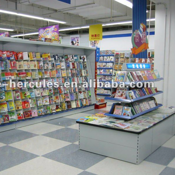 Store Double Sides Book Display Shelf HGLS-YG-TS