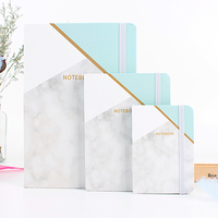 Wholesale Printed Logo Luxury Diary Book Customized A5 Hardcover Marble Notebook