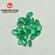 2GN03004A Good Oval Cutting 6*4mm Natural Loose Emerald Gemstone for Jewelry