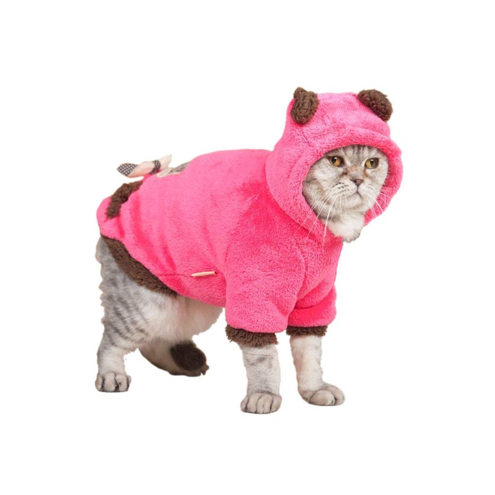 aef5513fa Get Quotations · FakeFace Fashion Lovely Cartoon Soft Warm Coral Fleece Pet  Hoodie Coat Jacket Clothes Winter Autumn No