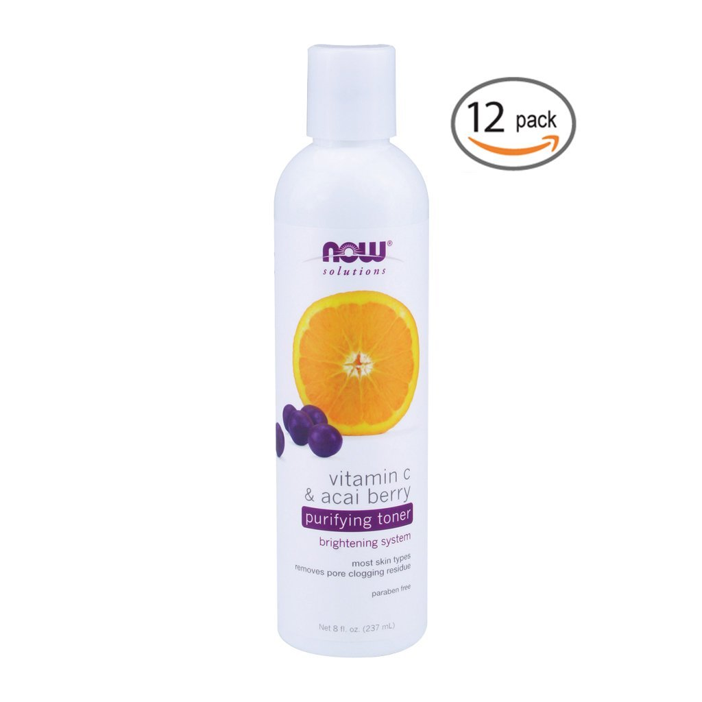 NOW Foods Solutions Vitamin C & Acai Berry Purifying Toner -- 8 fl oz