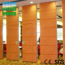 Artistic Fire Resistant Movable Folding Glass Partition Wall Price, Banquet Room Partitions