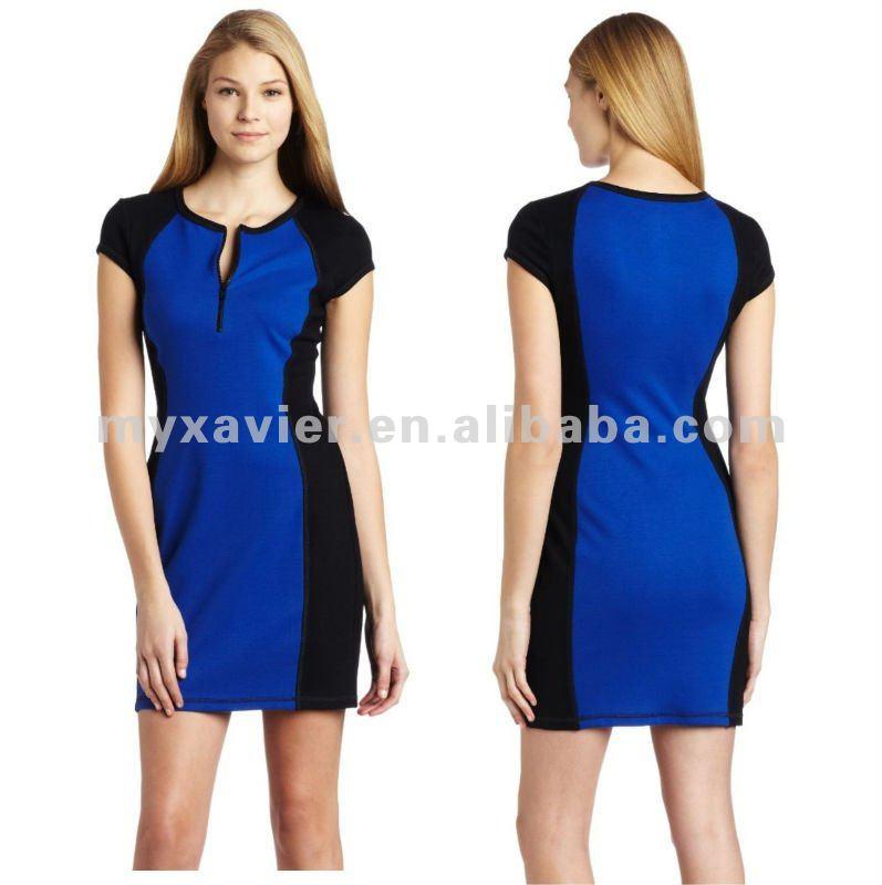 Clothes Women,Color Block Dresses,Color Combination Dress (20004 ...