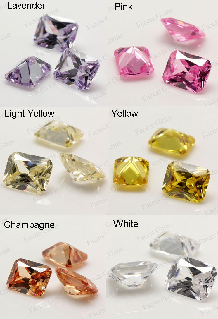 6*8 Faceted Black Gemstone Types Raw Black Diamond Fashion - Buy ...