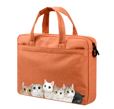 13 Inch Siberian Husky Briefcase for Laptop with Handle Lightweight Laptop Carrying Bag Fits MacBook Air Pro
