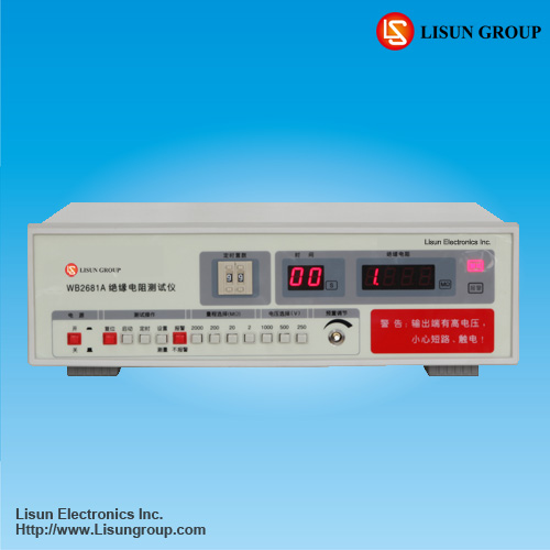 WB2681A dc resistance meter with high accuracy and test voltage range 0~1000V(DC)