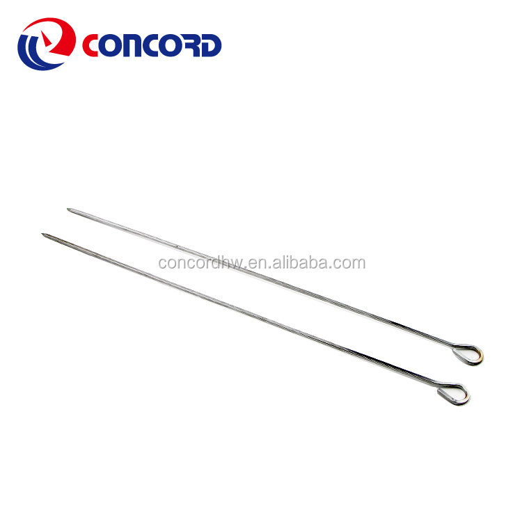 Extra Long Size Stainless Steel  Grilling Kabob Skewers Stainless Steel Needles Barbecue Roasting Sticks BBQ Forks
