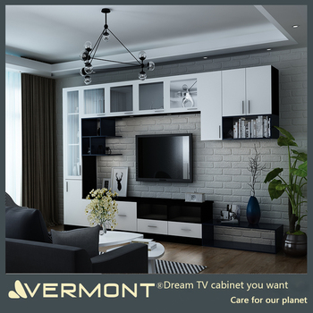 Home Furniture Tv Wall Mount Wood Led Tv Wall Unit Design Buy Wood