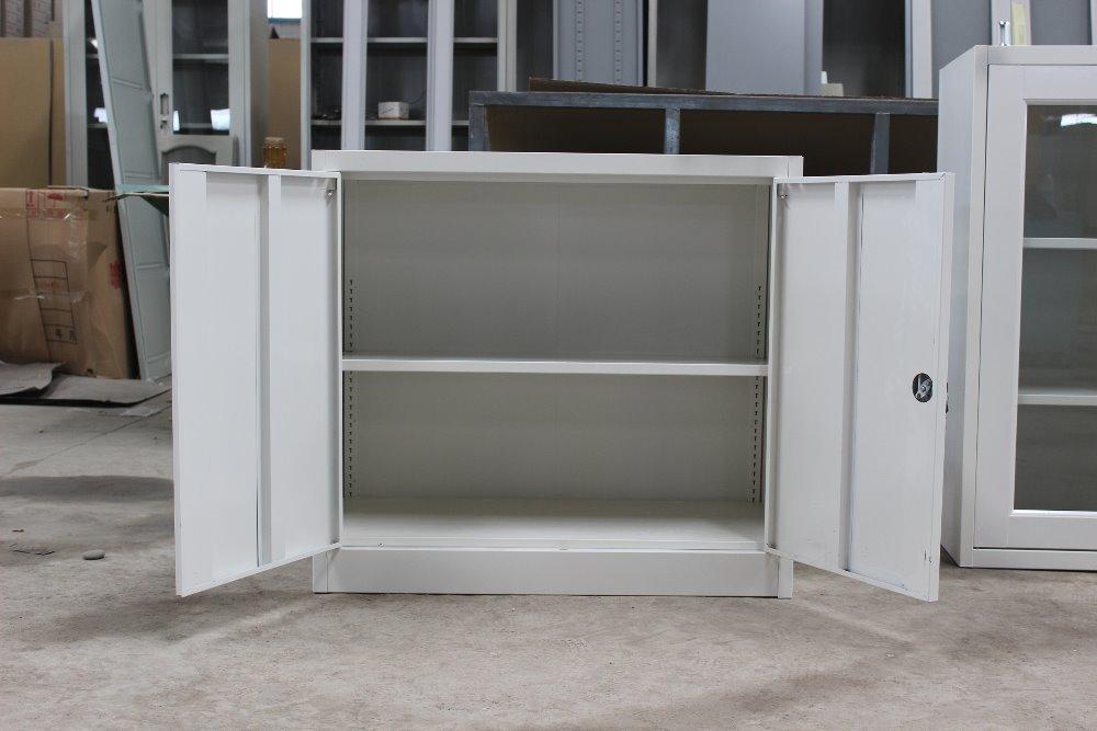 Half Height Steel Outdoor Shoe Cabinet / Black White Low Storage ...