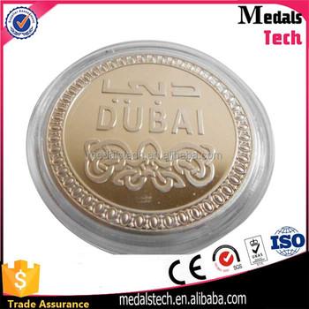 Descuento Nuevo Oro Rosa Dubai Moneda Con Caja De Acrílico Transpae