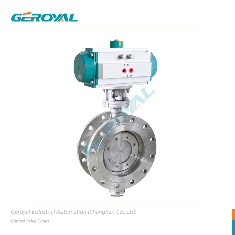 Pneumatic Keras Disegel Butterfly Valve Clamp Flange Type Menyesuaikan Switch Cut Off 304 316 ANSI Butterfly Valve