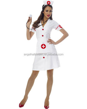 High Quality Japanese Sexy Nurse Costume Ladies Fancy Dress Costume Wholesalers Latex Nurse Costume Agc410