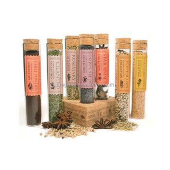 glass spice jarsvials with cork