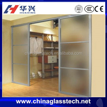 Aluminium Frame Thermal Insulation Soundproof Sandblast Glass