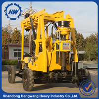 HW Hydraulic water pump deep auger drilling rig