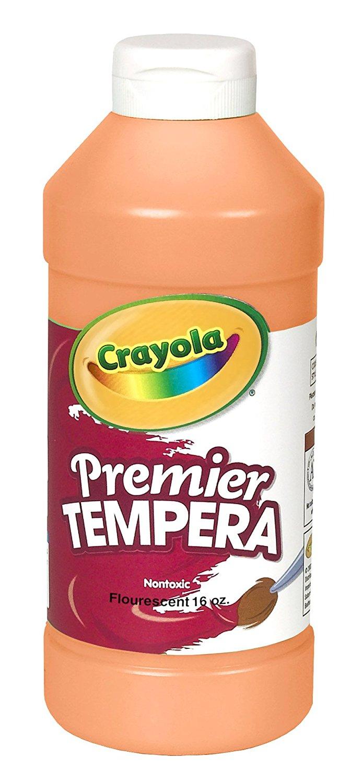 Crayola Fluorescent Paint 16-Ounce Plastic Squeeze Bottle, Orange/Yellow