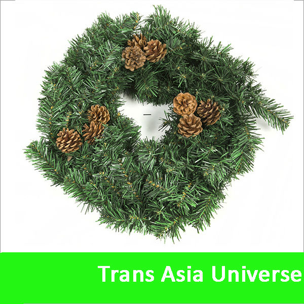 2014 High Quality artificial pine wreaths wholesale