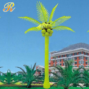 Solar Lighted Palm Trees For Plaza Decoration Buy Solar