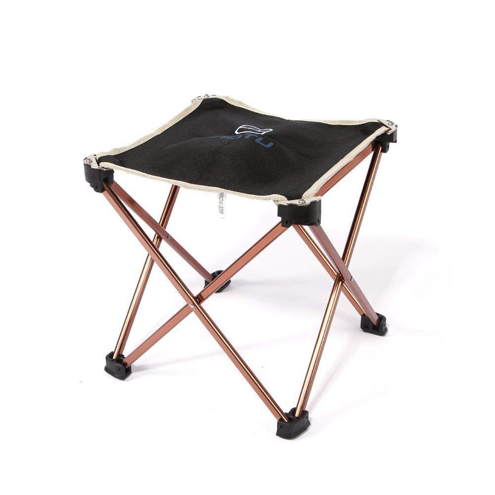 Winis Portable Lightweight Folding Camping Stool Chair 7075 Aluminum Alloy Fold up Dining Chair Stool Waterproof Oxford Collapsible Chair Stool Fishing Camping Hunting Traveling