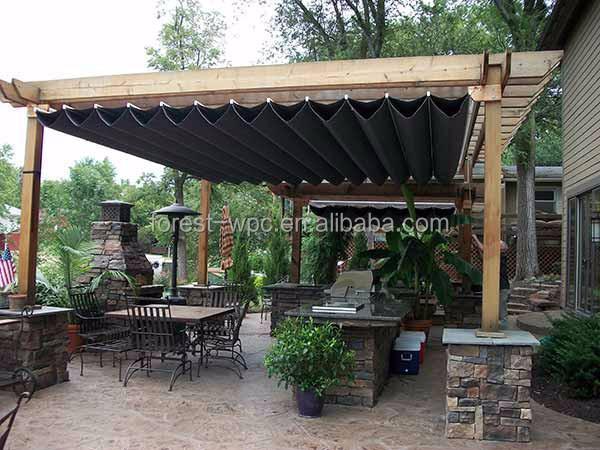 Kunststof pergola pergola hout kunststof wpc pergola dak met water