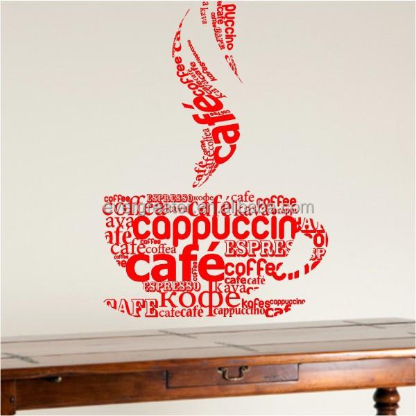 custom business sticker,coffee shop wall sticker, view coffee shop
