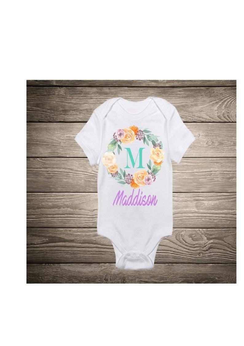 Get Quotations Monogram Baby Body Suit Shower Gift New Birthday
