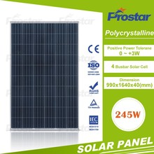 245W Poly Solar Panel TUV/IEC/CE/CEC/CQC/PID/ISO Standards