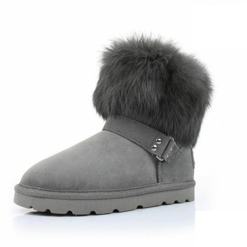 462bdc5bcd8 Get Quotations · New Style Warm Rabbit Fur Snow Boots Women Winter Boots  2015 Shoes Woman Winter Brand Ankle