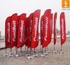 Large size outdoor advertising Teardrop banners