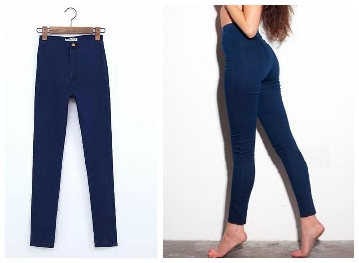 eeae60d8b12b Get Quotations · 2015 New hot women high waist jeans american apparel  skinny jeans femme denim pants