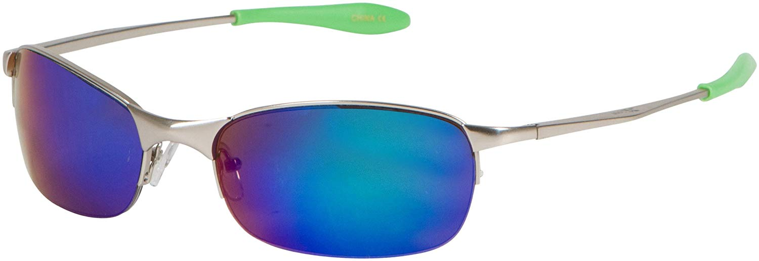 c770e2abd6 Get Quotations · X-Loop Metal Sunglasses - Comfort Fit Wrap Style Sunglasses  for Summer Outdoor Sports