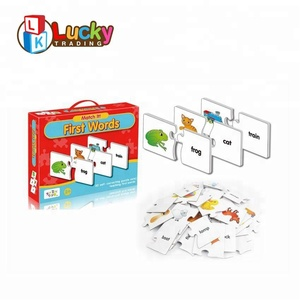children's word memory card toys preschool educational games learning puzzle for english teaching