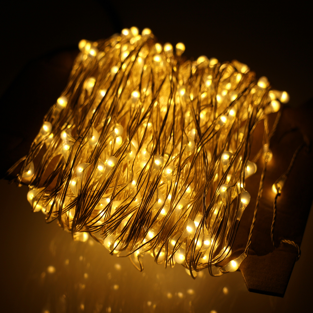 80Ft 24M Gorgeous Led String Lights 480LED Silver Wire ...