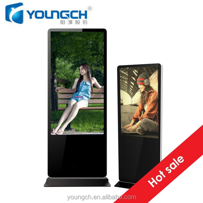 42 inch advertising player totem digital sigange floor standing network organized auto play with remote control media is played