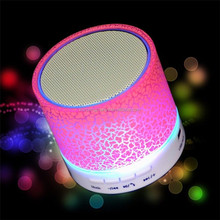 Night Light LED USB FM Color Loudspeakers Portable Box Wireless Bluetooth Speaker with TF card