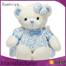 multi-functiona Best Selling soft oem plush white teddy bear with red heart