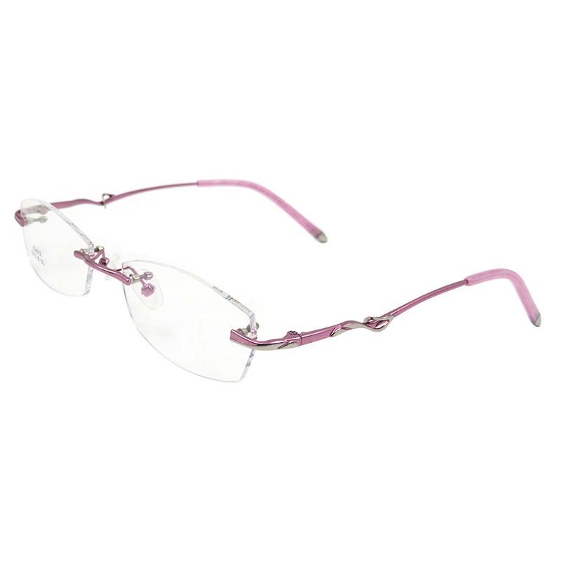 b519071ad0 S2613 Rimless Eyeglasses Frame For Women Rimless Eyewear Glasses ...
