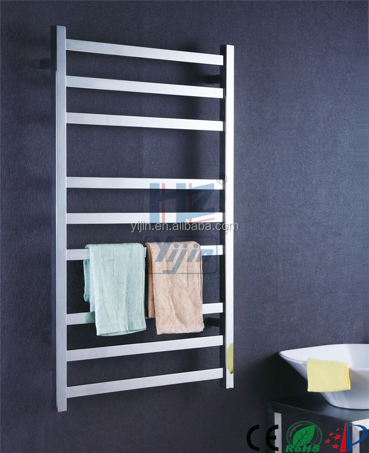 Hot Sell Square Profile Ladder Style Bathroom Accessories Heated Towel Rail