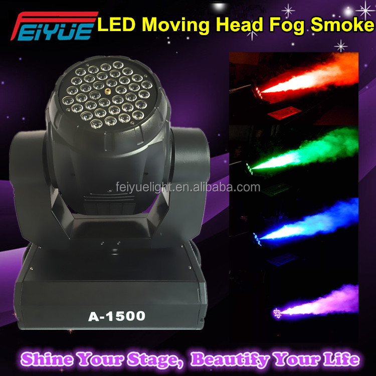Top Selling Products In Alibaba 36pcsX1w DMX Remote Control Colorful LED Moving Head Smoke Machine