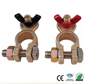 Brass Battery terminal clamp type and red(positive) & black(negative) gender factory drop shipping car battery terminal