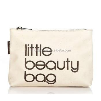 Little Beauty Bag Slogan Canvas Cosmetic Makeup Pouch