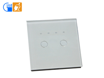 Uk 86mm Crystal Glass Panel Timer Touch Light 2 Gang 1 Way Switch ...