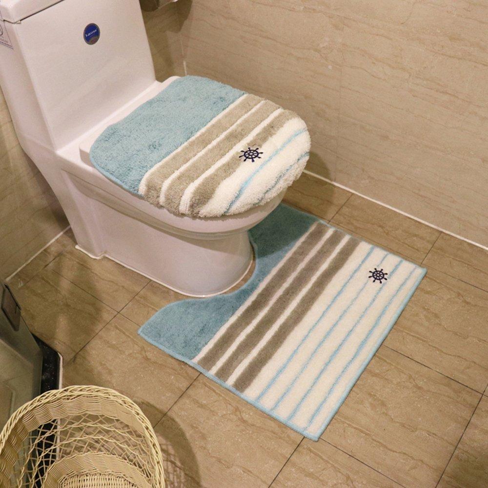Buy Fashion Stripe Plush Toilet Seat Cover Toilet Lid Toilet Seat ...