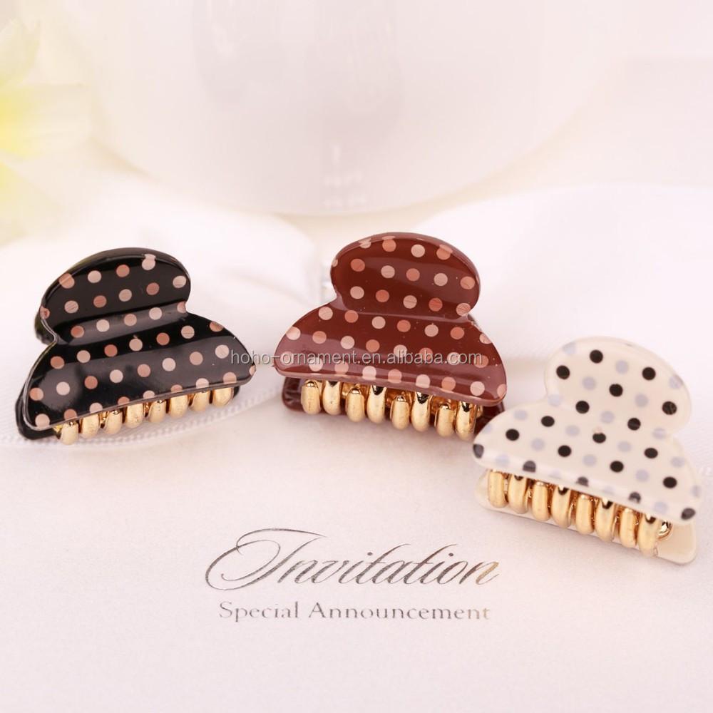 Hair accessories manufacturers - Dots Mini Clip Power Han Plastic Hairpins Hair Accessories Manufacturers China