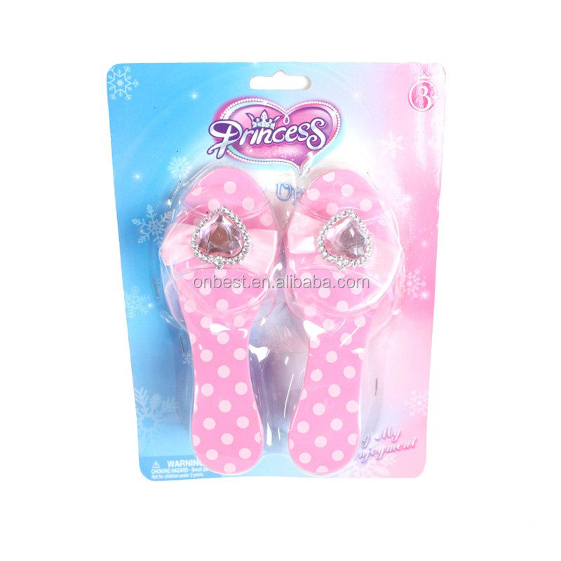 Factory price frozen party supplies China plastic princess shoes with heels