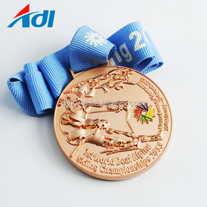 Cheap made in china 3d custom award sport medal copper medal