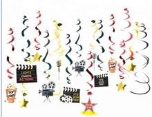 Commercio all'ingrosso Festa di Compleanno <span class=keywords><strong>Tema</strong></span> <span class=keywords><strong>del</strong></span> <span class=keywords><strong>Film</strong></span> Appeso Decorazione di Carta Pvc Swirl